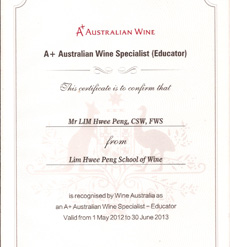 Australian Wine Educator Cert