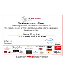 Spanish Wine Educator Certificate