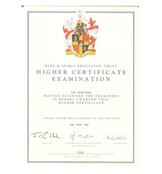 WSET-Higher International Certification